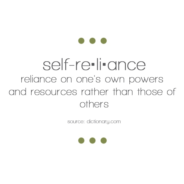 2018 is the year of selfreliance